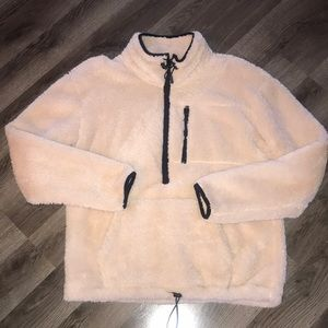 Worn once, PINK Victoria's Secret teddy bear Sherpa pullover!
